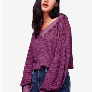 Free People South Side Balloon Sleeve Thermal Top